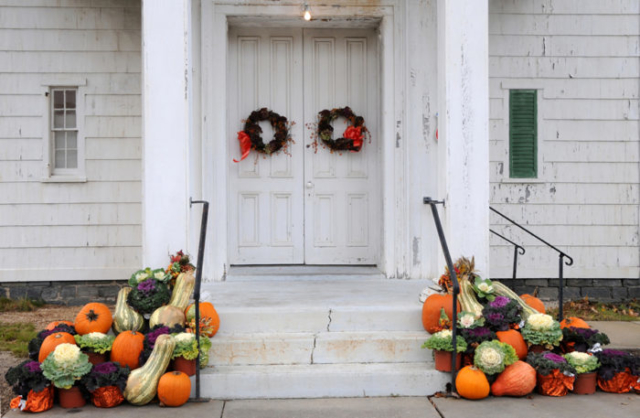 front door pumpkins
